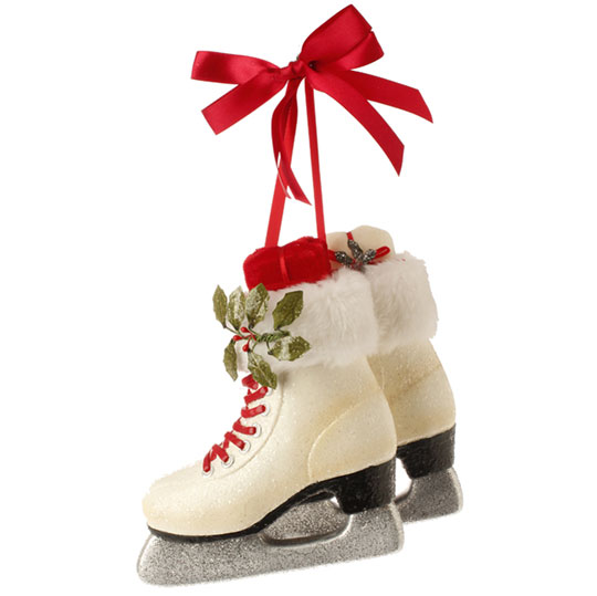 Decorating The Porch For Christmas With Garland Sled Ice Skates And Snowflake