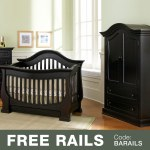 Baby Appleseed Davenport 2 Piece Nursery Set Convertible Crib And Armoire In Espresso Free Shipping