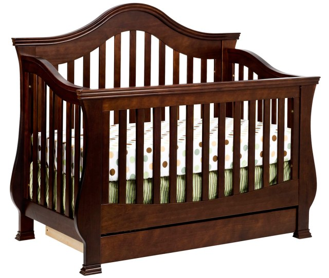 Million Dollar Baby Classic Ashbury  Sleigh Convertible Crib With Toddler Rail In Espresso Free Shipping