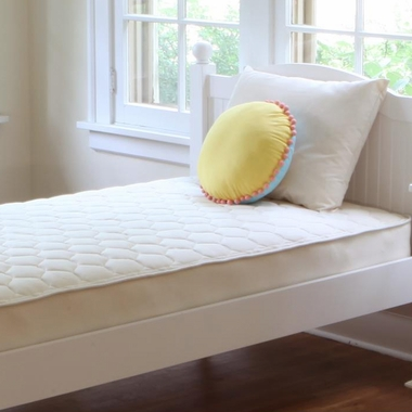 Naturepedic Quilted Organic Cotton 1 Sided Deluxe Trundle Short Twin Mattress