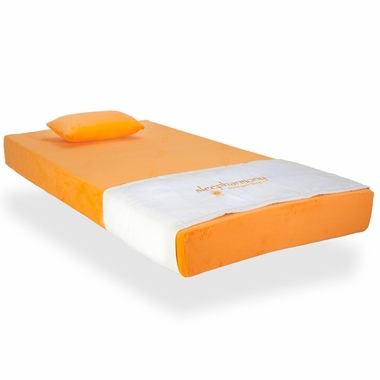 Sleep Harmony Jubilee Twin Youth Memory Foam Mattress In Orange Click To Enlarge