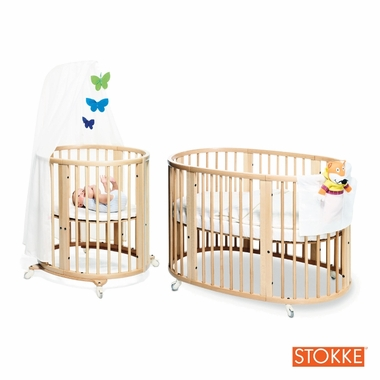 Stokke Sleepi System I Bassinet And Crib In Natural With Mattress Set Click To