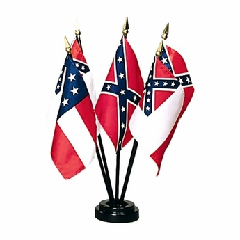 Miniature Flags Of The Confederacy Set