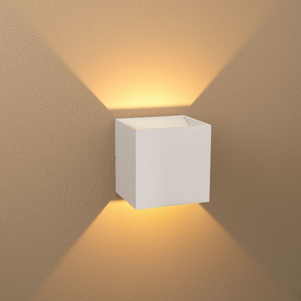 Bruck 103040WH-WH-3 QB Modern White Exterior / White ... on Modern Interior Wall Sconce id=86373