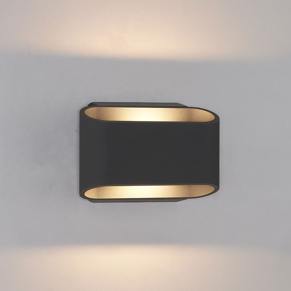 Bruck 105050BK Eclipse Contemporary Black LED Outdoor Wall ... on Modern Outdoor Wall Sconce id=30675