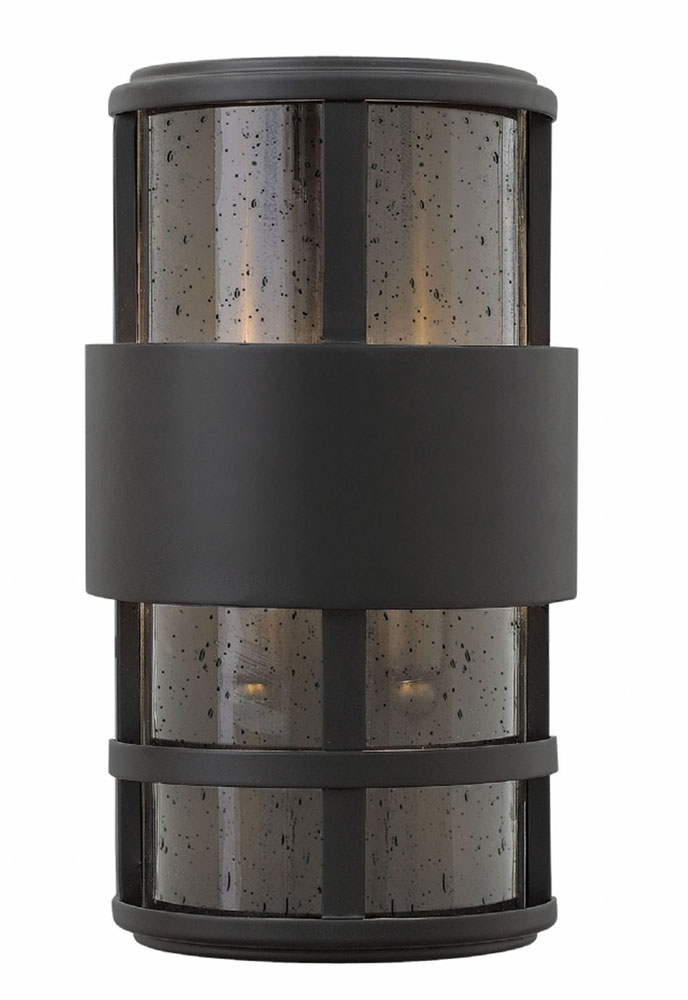 Hinkley 1908SK Saturn Contemporary Satin Black Exterior ... on Modern Outdoor Wall Sconce id=39504