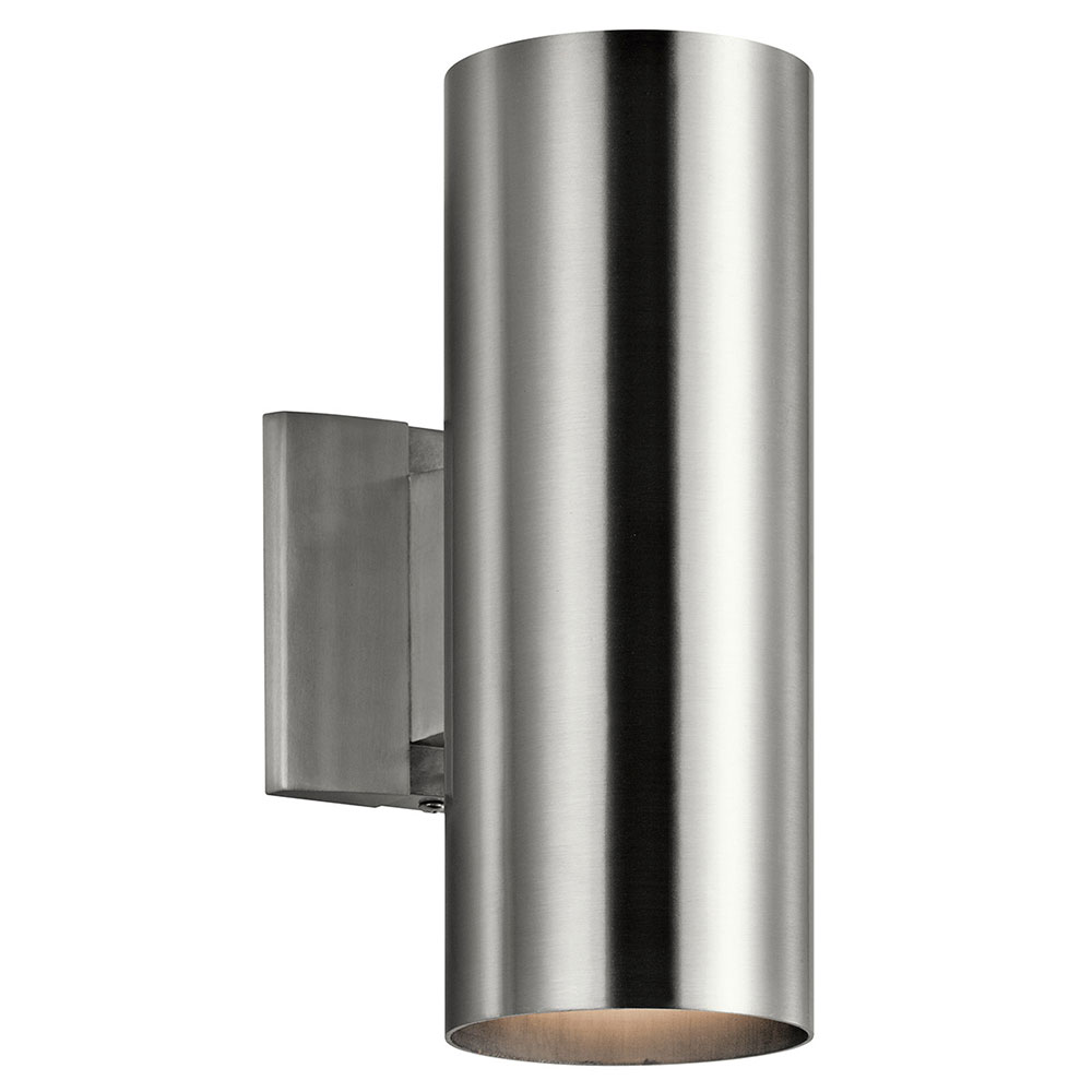 Kichler 9244BA Modern Brushed Aluminum Exterior Light ... on Contemporary Outdoor Wall Sconces id=56642