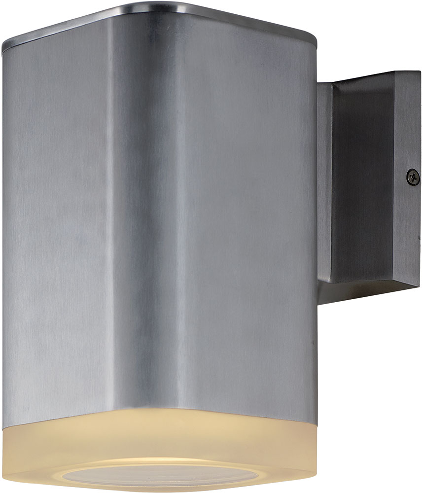 Maxim 86137AL Lightray Modern Brushed Aluminum LED Outdoor ... on Modern Outdoor Sconce Lights id=18421