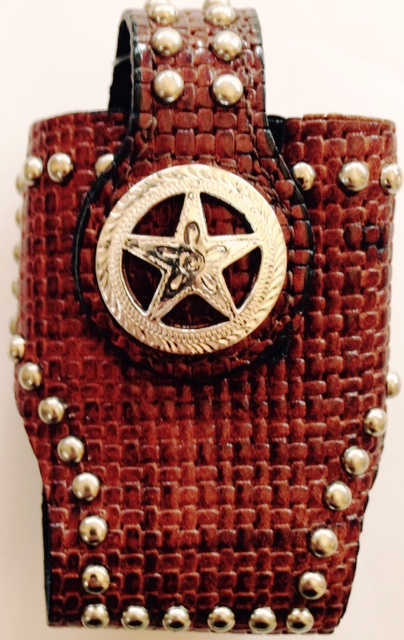 MFW0689299 35 Western Cell Phone Holder With Star Concho