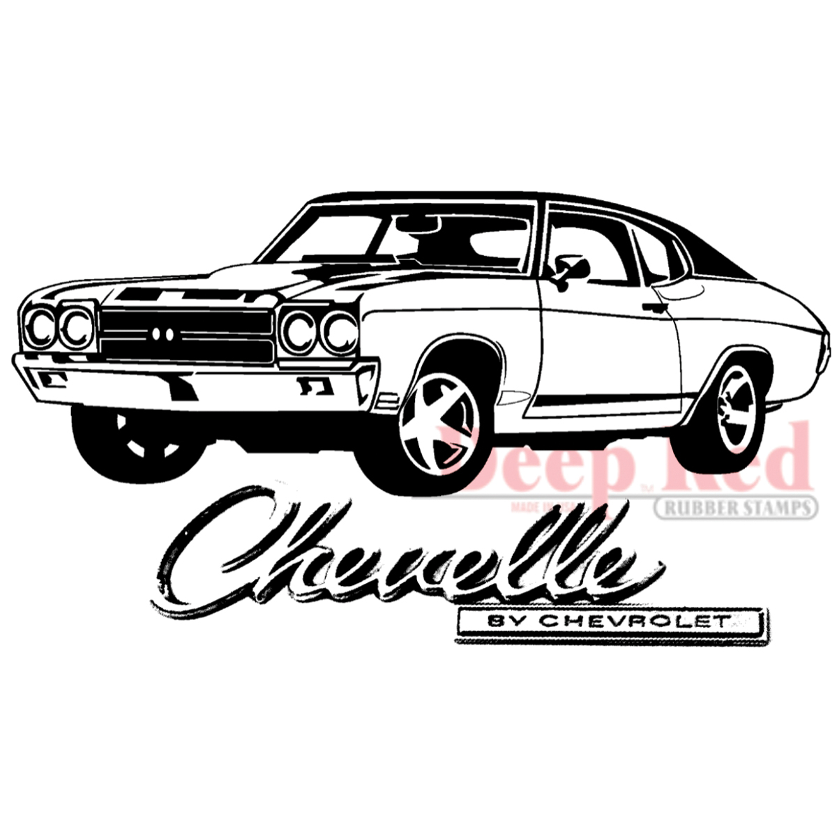 Chevelle Ss Drawing Sketch Coloring Page