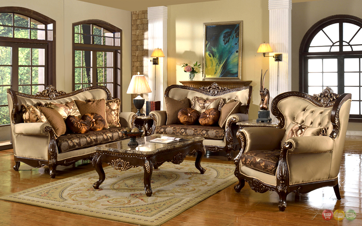Antique Style Traditional Wing Back Formal Living Room ... on Furniture Style  id=31506