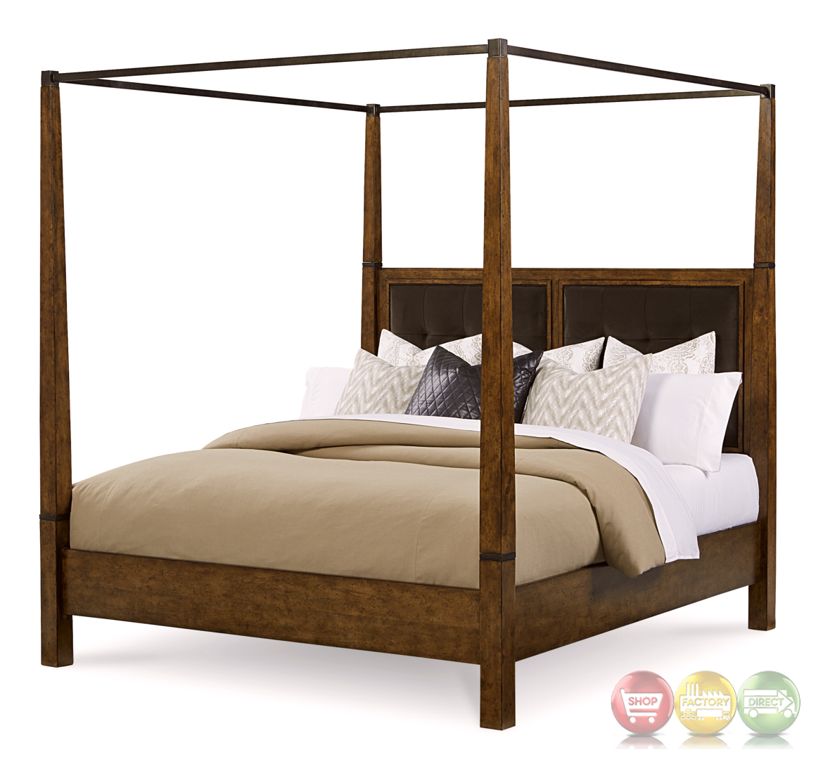 Echo Park Birch California King Canopy Bed With Stipple