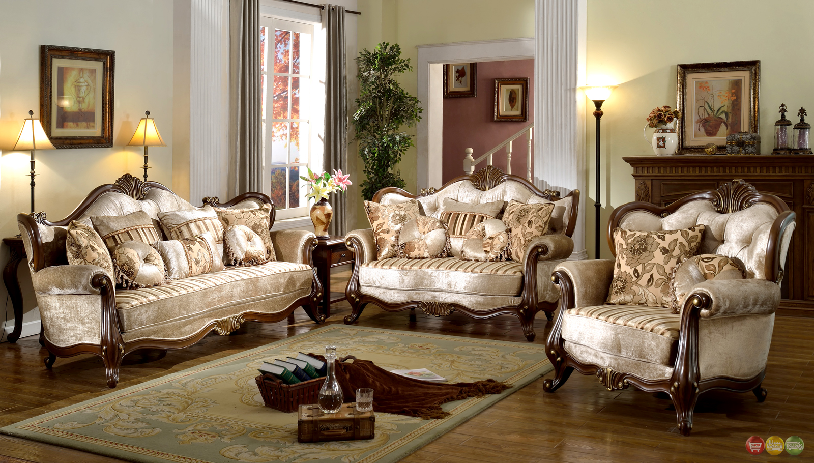 Vintage Style Living Room Furniture Zion Star