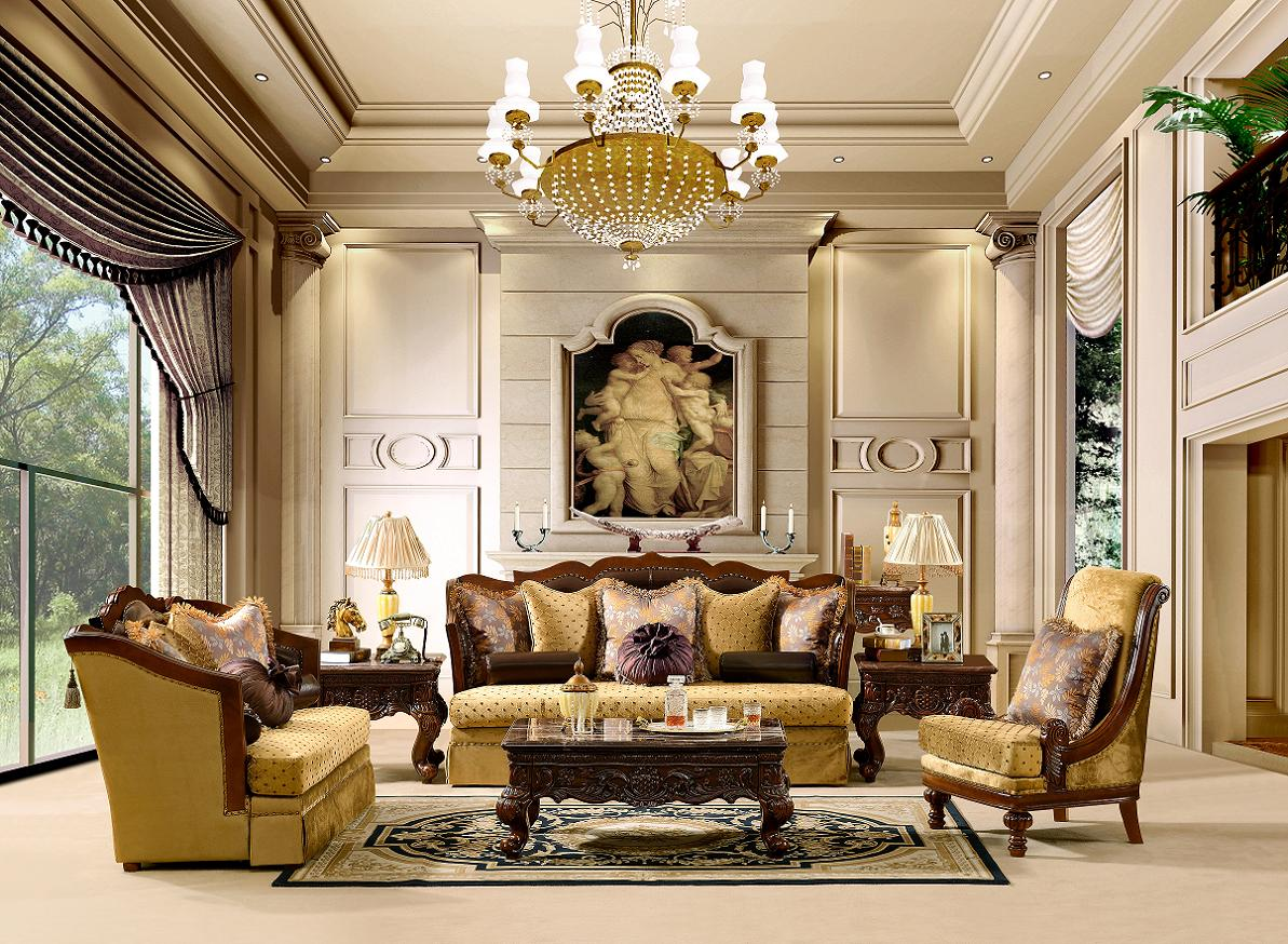 Luxurious Traditional Style Formal Living Room Set HD-1713