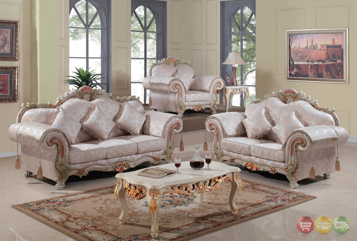Luxurious Traditional Victorian Formal Living Room Set