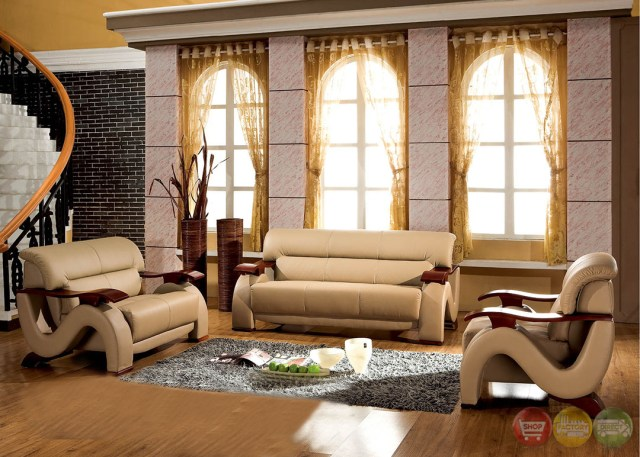 Thad Camel Ultra Modern Formal Living Room Sets with ...