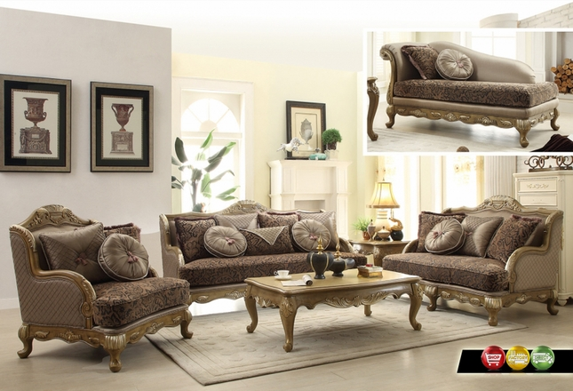 Traditional Victorian Formal Living Room Sofa Love Seat