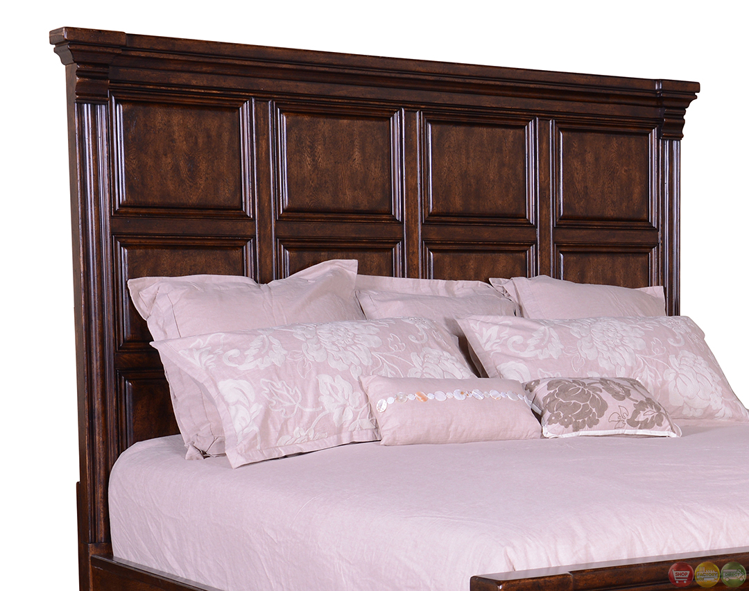 Whiskey Oak Western Rustic Style Panel California King Bed