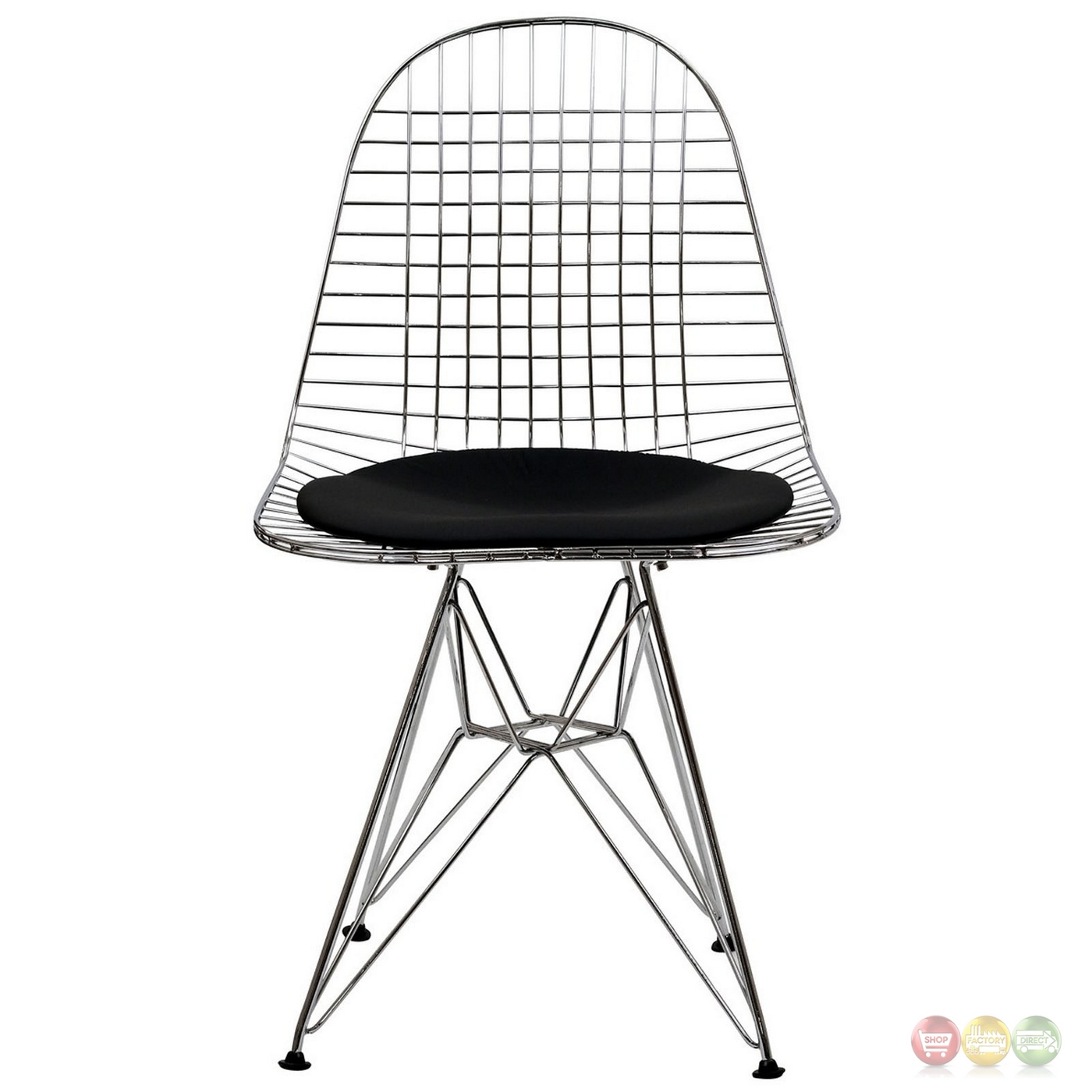 Tower Modern Steel Wired Dining Side Chair With