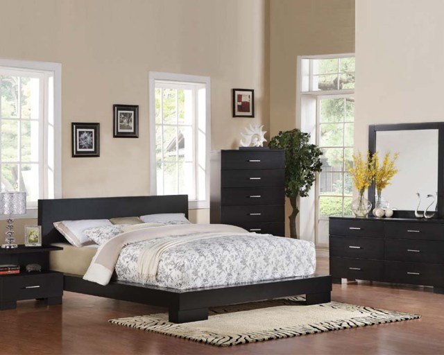 Contemporary Bedroom Set London Black by Acme Furniture ...