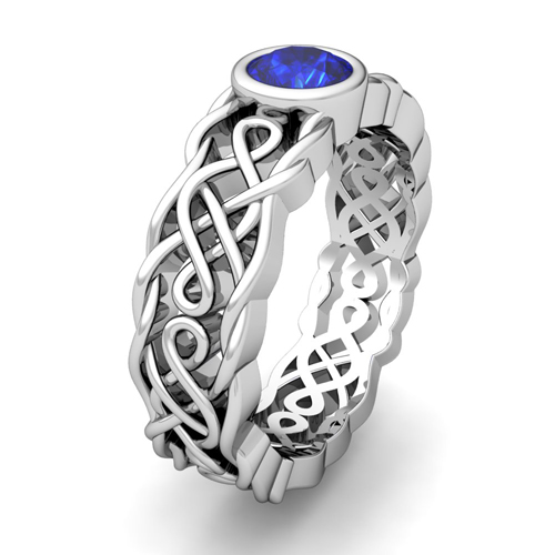 Wedding Rings Pictures Sapphire Celtic Wedding Ring Sets