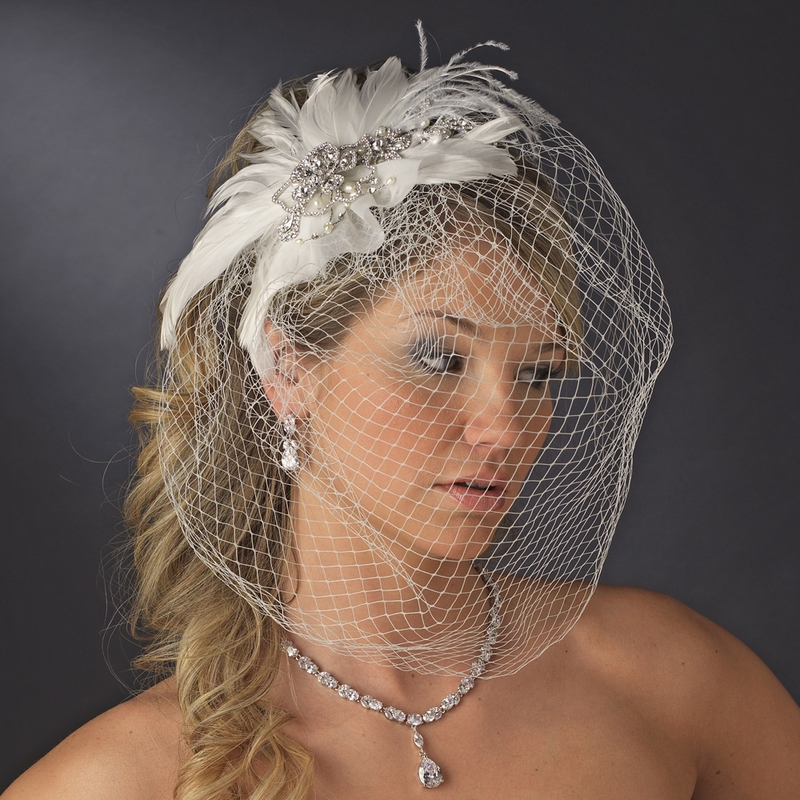 Wholesale Vintage Bridal Feather Headpiece Clip With