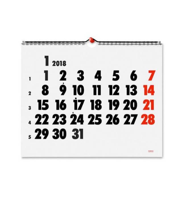 Que hayamos incluido este calendario sencillo de 1975, con diseño tipográfico y dos tintas, es un homenaje a la que fue una de las tiendas más influyentes de Europa: Vinçon, en Barcelona. En una entrevista con ICON Design el diseñador y gurú Jasper Morrison declaraba su admiración hacia este local que supo mezclar objetos con firma y objetos sin firma aparente pero con buen diseño y funcionalidad. Durante años, este establecimiento barcelonés produjo anualmente este calendario que aún hoy puede comprarse, y que sigue siendo toda una golosina para aficionados al diseño.