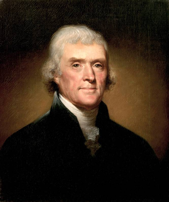 """""""A dignidade do meu cargo me obriga, certamente, a incorrer em despesas às quais não posso me permitir"""", escreveu Thomas Jefferson (Virgínia, EUA, 1743 - Virgínia, EUA, 1826), terceiro presidente dos Estados Unidos, a seu bom amigo James Madison em 1802. O inquilino da Casa Branca tentava, assim, justificar despesas extravagantes como os quase 10.000 dólares por ano (o que daria cerca de 1,8 milhão de dólares hoje) que eram gastos em vinhos franceses, espanhóis e italianos para nutrir sua adega e receber seus hóspedes. Além disso, Jefferson acreditava piamente que indivíduos em cargos eletivos não deveriam receber um salário – """"se você não pode se permitir o esforço financeiro representado por servir a seu país, é melhor não fazê-lo"""", escreveu. E ainda pregava a austeridade nos gastos públicos – """"nenhuma geração deve se ver obrigada a pagar as dívidas de seus pais"""". Mas nunca se dispôs a praticar isso em sua vida pessoal. Morreu em Monticello, sua imensa mansão no sul do país, assediado pelos credores, entre baixelas de ouro e prata oxidadas e luxuosos tapetes estilo Versailles cobertos de pó e roídos por ratazanas. Na imagem, retrato de Thomas Jefferson em 1800."""