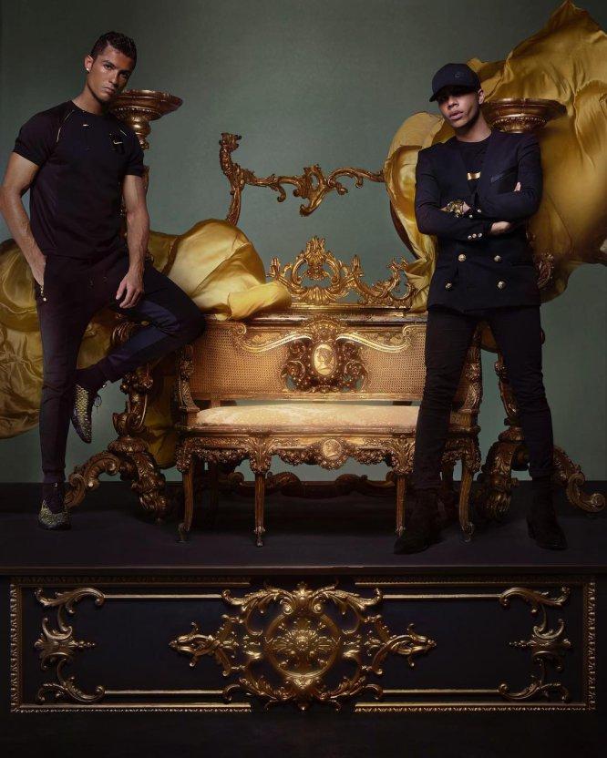 Aunque en alguna ocasión ha ejercido como modelo de otras firmas que no son la suya. En mayo de 2010, aparecía junto a Olivier Rousteing, diseñador de Balmain, en un anuncio para Nike.