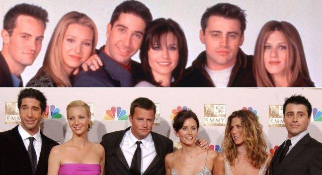 Desde que terminó 'Friends' ha sido imposible ver a los seis protagonistas juntos de nuevo, al menos delante de una cámara. La imagen de abajo es del año 2002, tras los premios Emmys. A lo largo de estos 25 años han sido muchas las noticias que han circulado con la vuelta de la serie, la grabación de un capítulo final nuevo o, incluso, la posibilidad de hacer una película. Todo siempre rodeado de polémica por los fieles admiradores de 'Friends', que se niegan a que su serie favorita pueda estropearse.
