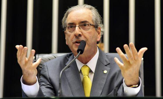 Cunha no plenário da Câmara. / LUIS MACEDO (CÂMARA DOS DEPUTADOS)