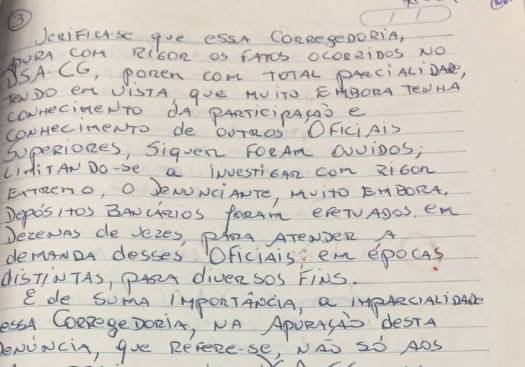 Em carta, o coronel José Afonso Adriano Filho menciona