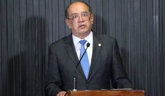 O ministro Gilmar Mendes, do Supremo Tribunal Federa, alvo de questionamentos nas ruas