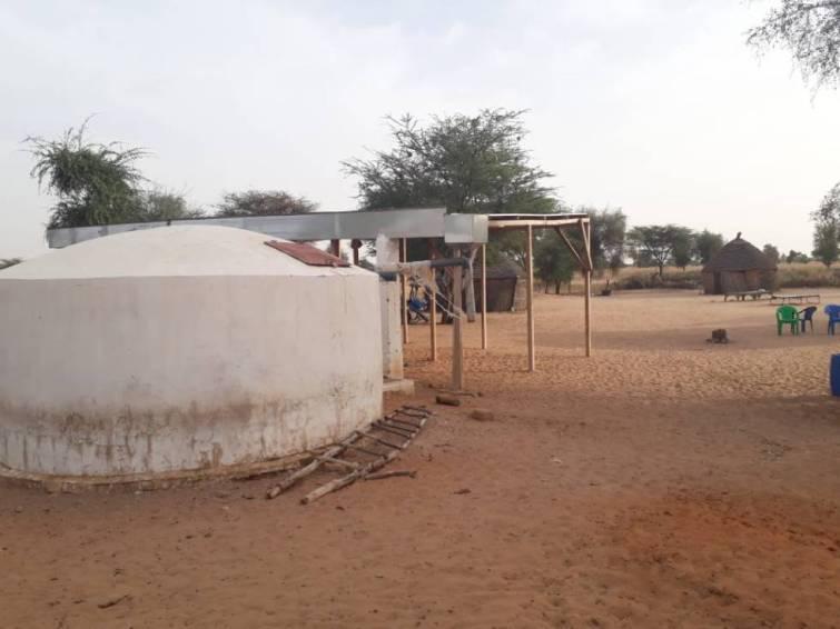 Cisterna em comunidade rural do Senegal, uma das primeiras da fase piloto do projeto.