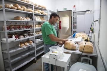 Homem trabalha na cooperativa do Assentamento 8 de Junho, em Laranjeiras do Sul.