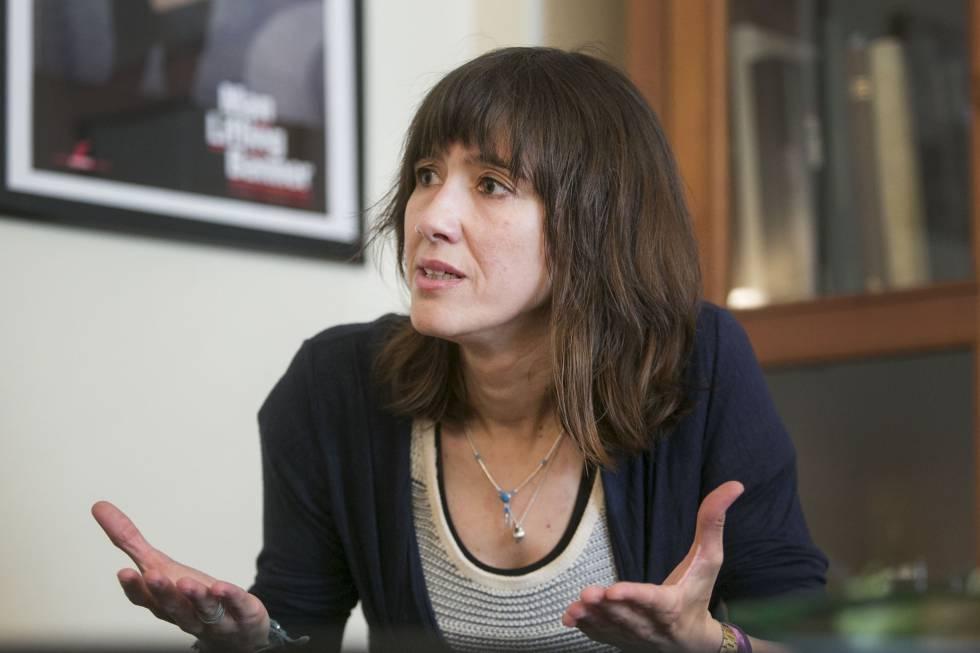 Núria Parlon, durante la entrevista