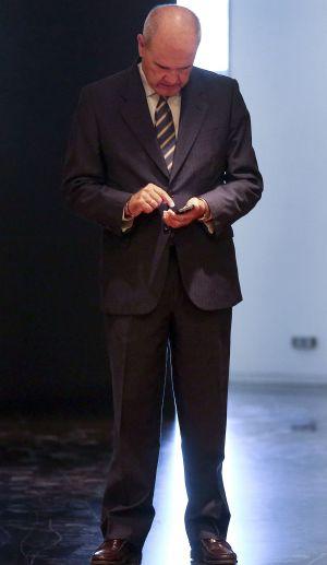 Manuel Chaves, este martes en el Congreso. / BERNARDO PÉREZ