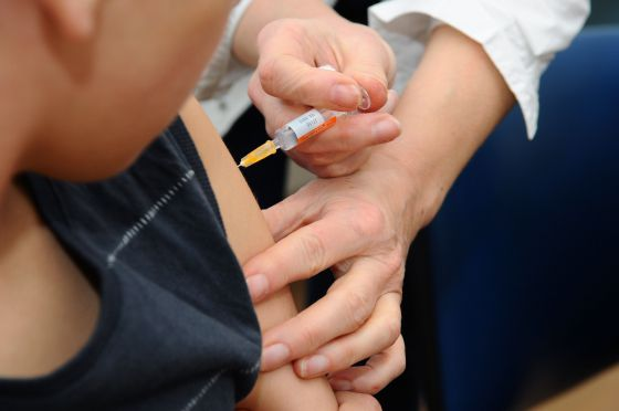 Vacunación en un hospital
