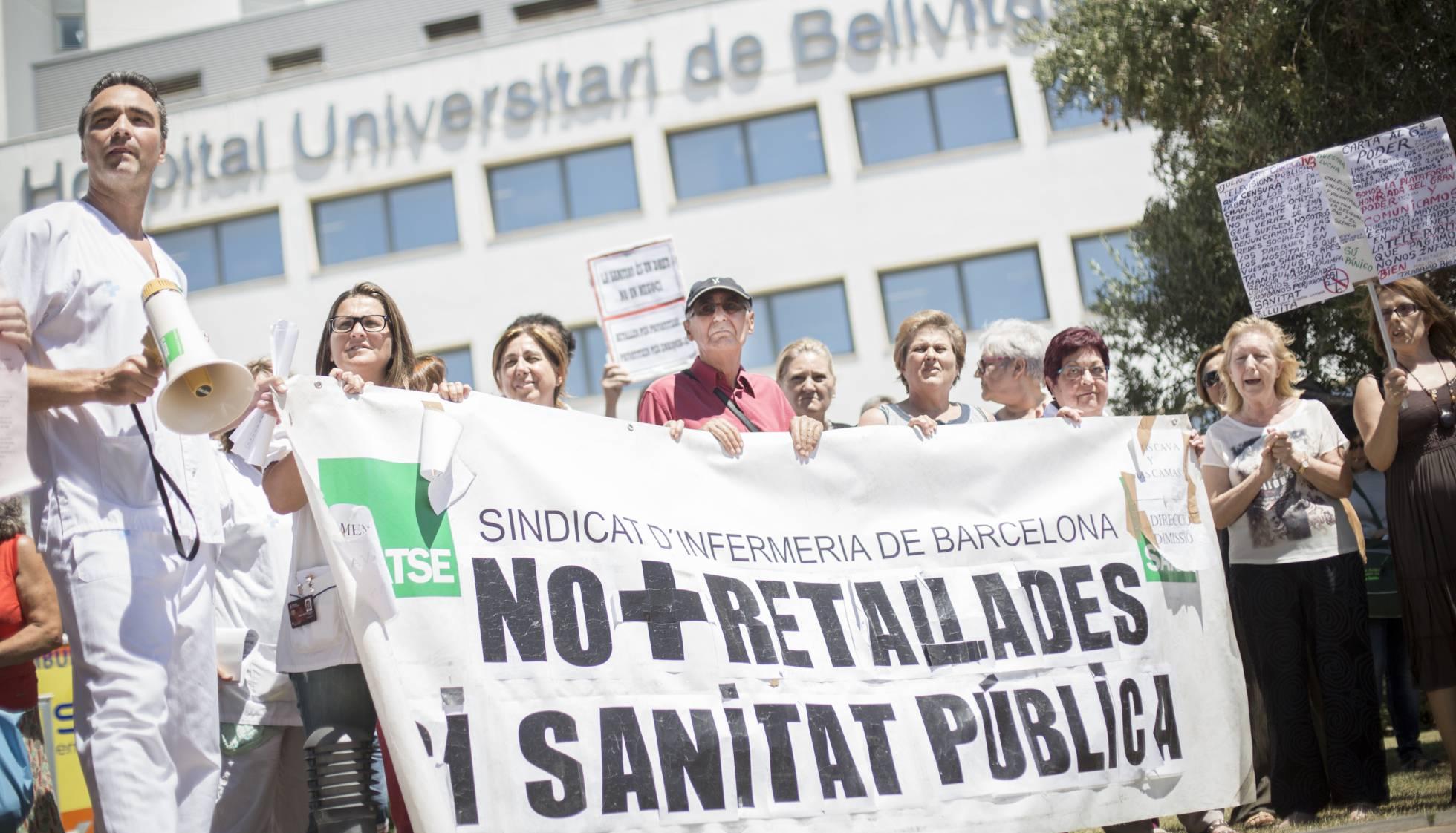 Manifestació a l'hospital de Bellvitge de Barcelona el 2014 Massimiliano Minocri