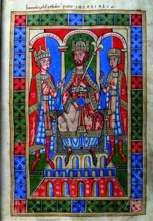 Federico Barbarroja ( 1162- 1190) emperador alemán y rey de Borgoña.