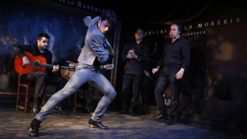 El bailaor Jesús Carmona, el lunes en Madrid en la presentación de la Bienal de Flamenco de Sevilla.