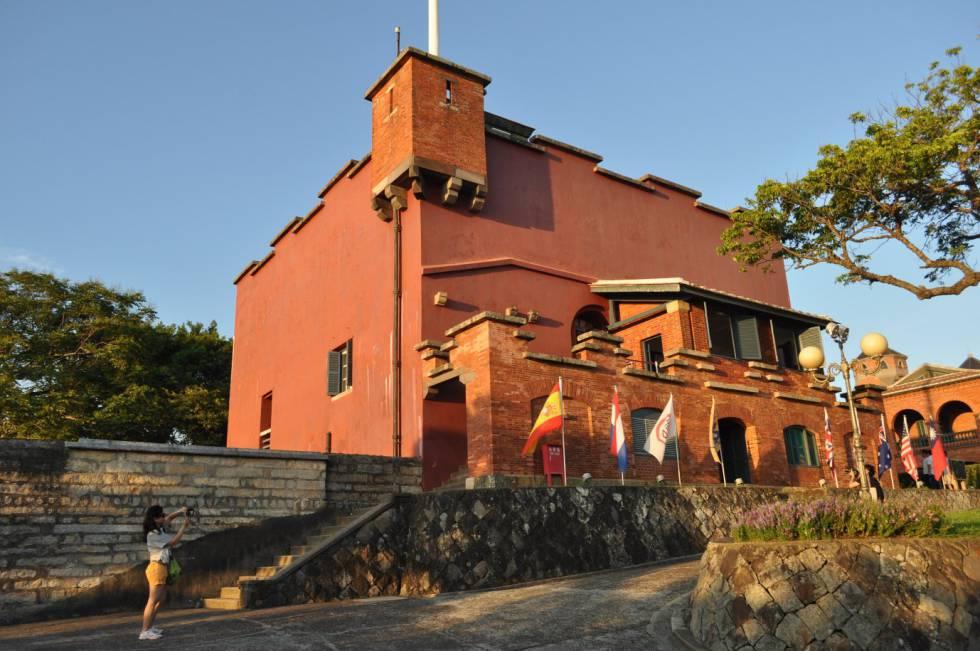 El fuerte Santo Domingo en Tamsui.