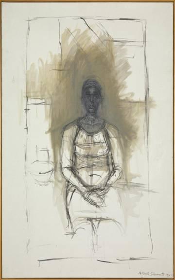 'Caroline' (1965), dibujo de Giacometti.