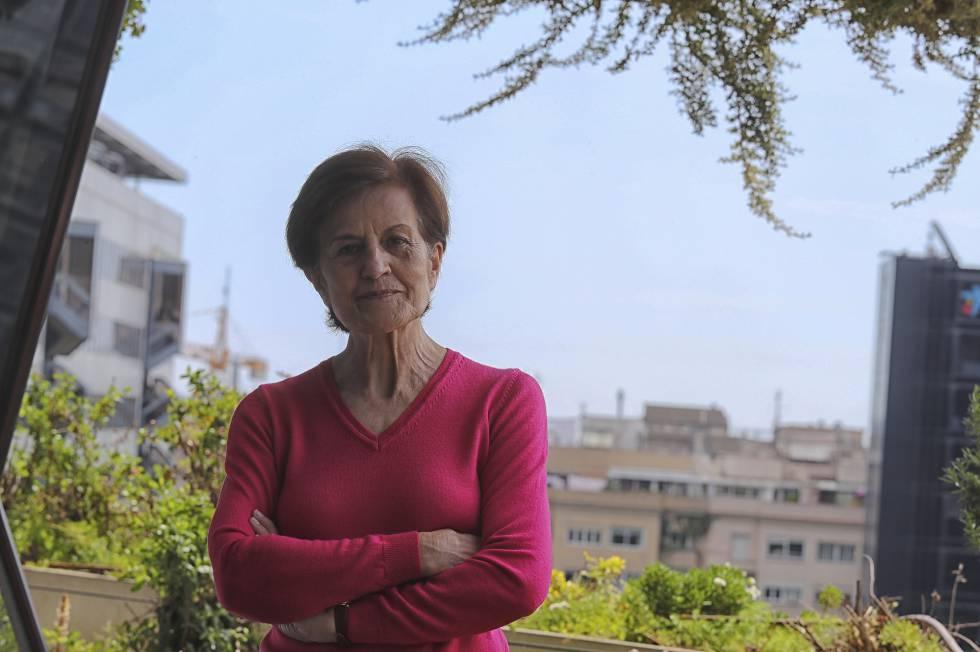 La escritora Adela Cortina, entrevistada en Barcelona.