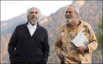 Jonathan Pryce y Terry Gilliam, en el rodaje.