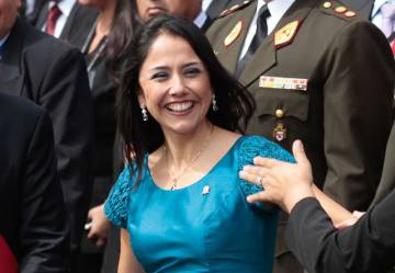 Nadine Heredia, en abril de 2014.