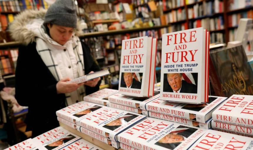 Una librería en Nueva York con ejemplares del libro 'Fire and Fury' de Michael Wolff.