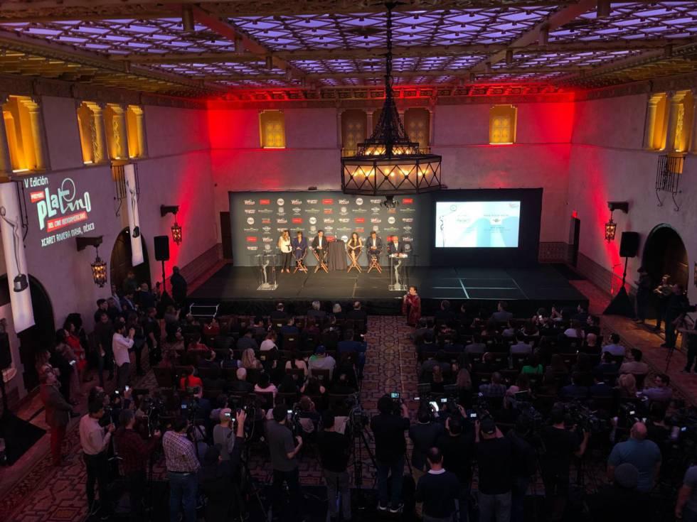 Presentación de los nominados a los premios Platino en Los Ángeles.