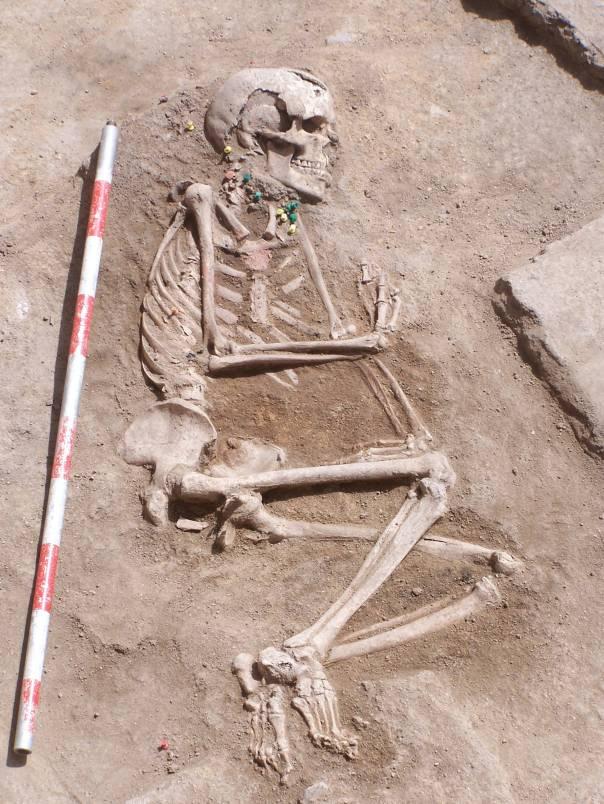 Cuerpo completo de la dama hallada en Humanejos. Foto: El País.