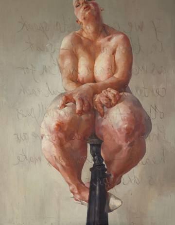 Propped', o quadro de Saville vendido por 9,5 milhões de libras.